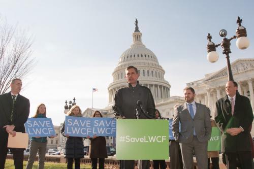 U.S. Senator Martin Heinrich (D-N.M.) speaks at LWCF press conference in Washington, D.C. November 29, 2018.