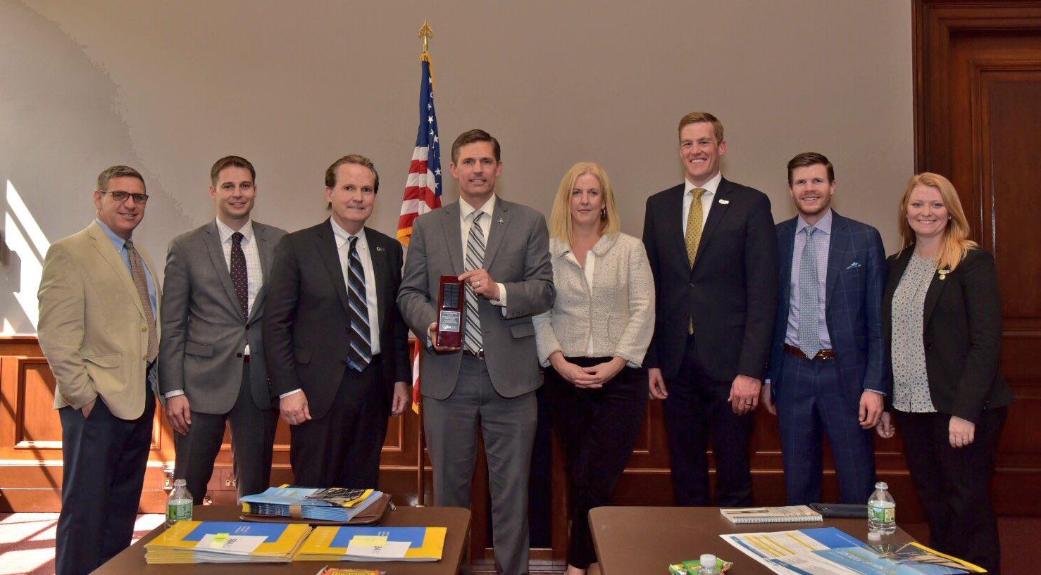 U.S. Senator Martin Heinrich (D-N.M.) receives the Solar Champion Award from the Solar Energy Industries Association (SEIA)
