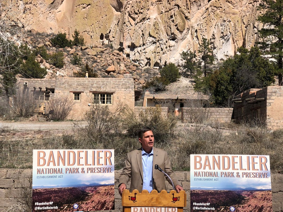 U.S. Senator Martin Heinrich (D-N.M.) Announces Plan To Establish Bandelier National Park and Preserve, March 20, 2019