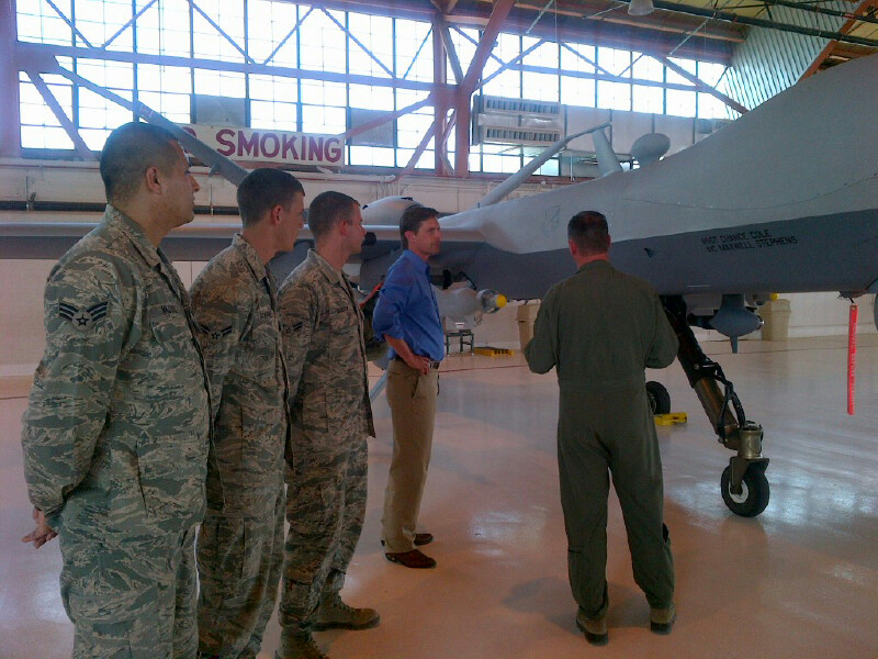 Visiting staff and troops at Holloman Air Force Base